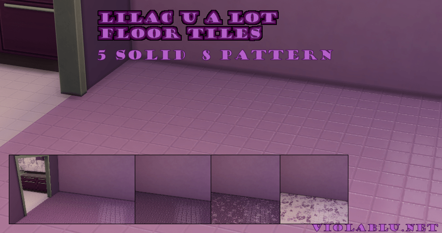 Lilac U A Lot Tiles Floors for Sims 4
