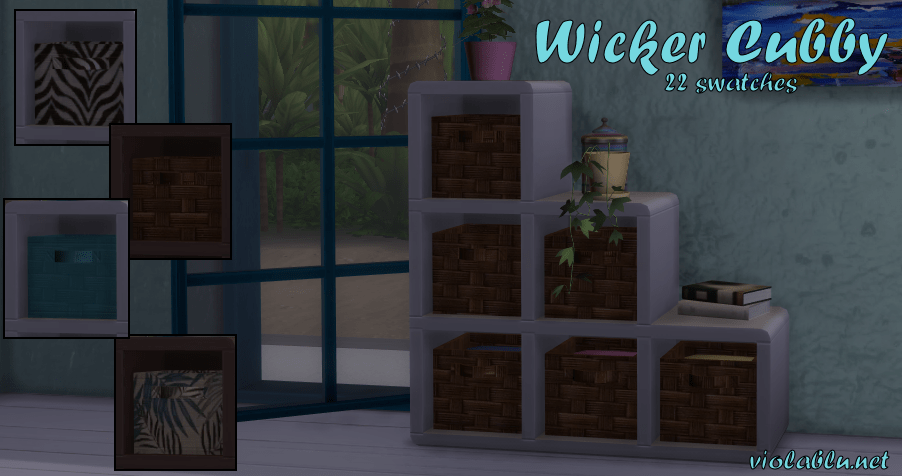 Wicker Cubby for Sims 4