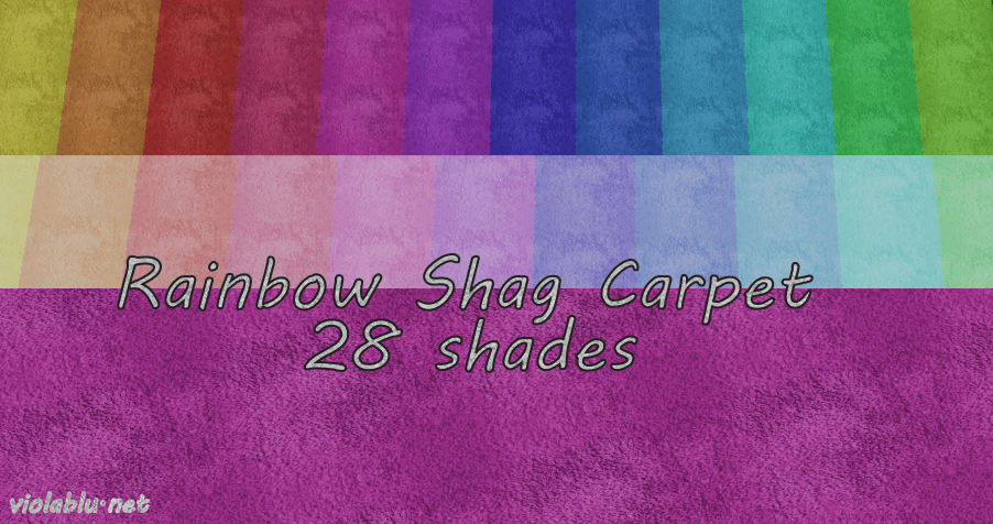 Rainbow Shag Carpets for Sims 4