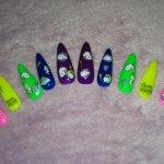 Unicorn Neon Nails