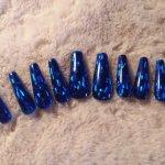 Blue Hologram Nails
