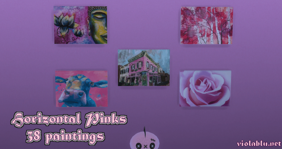 Horizontal Pinks Art for Sims 4
