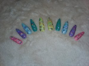 Pastel Holographic Nails