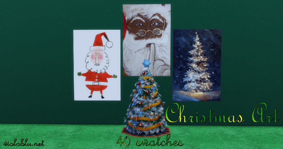 Christmas Art for Sims 4