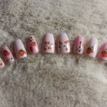 Strawberry and Cherry Press on Nails