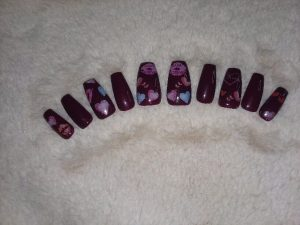 Purple Valentine Press On Nails