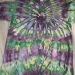 Large Green and Purple Tie Dye