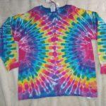 Youth Medium Long Sleeve Rainbow Tie Dye