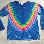 Youth Large Long Sleeve Blue Tie Dye Shirt