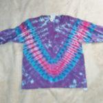 Youth XS Long Sleeve Purple Tie Dye