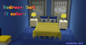 Bedroom Set Rainbow of Colors for Sims 4