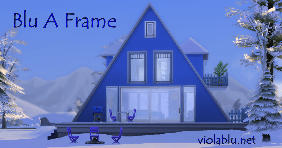 Blu A Frame for Sims 4