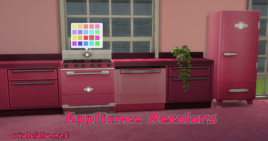 Appliance Recolors for Sims 4