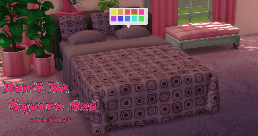 Don't Be Square Bed for The Sims 4