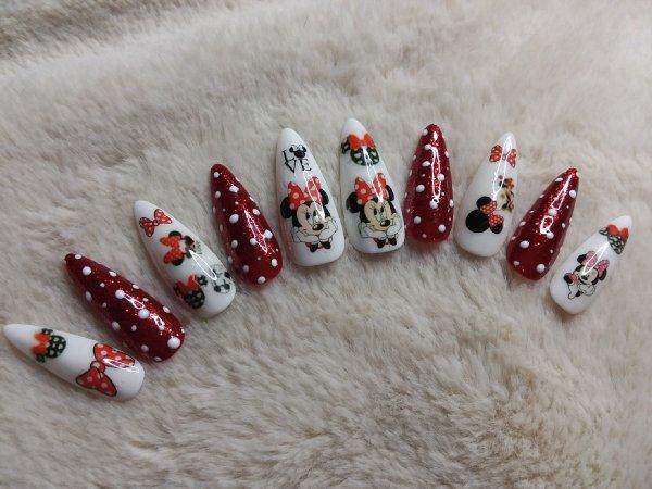 Medium Minnie Mouse Press On Nails – Shop Violablu