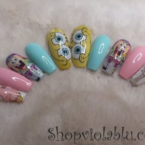 Large Sponge Bob Press On Nails – Shop Violablu