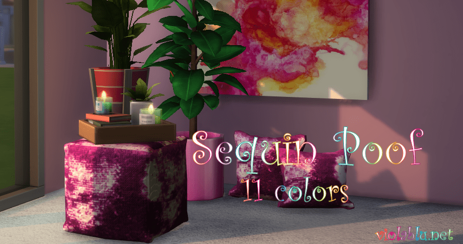 Viola's Sequin Poofs for Sims 4
