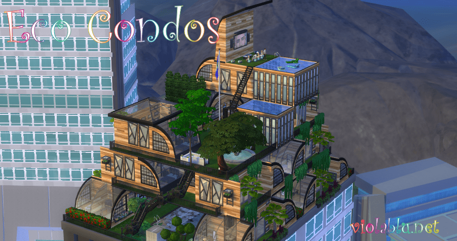 Eco Condos City Living for The Sims 4