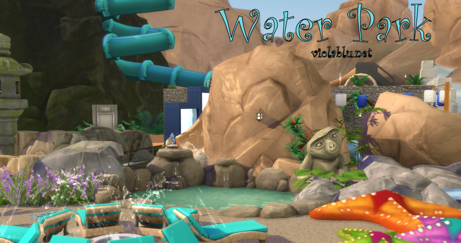 Rockie's Water Park for Sims 4