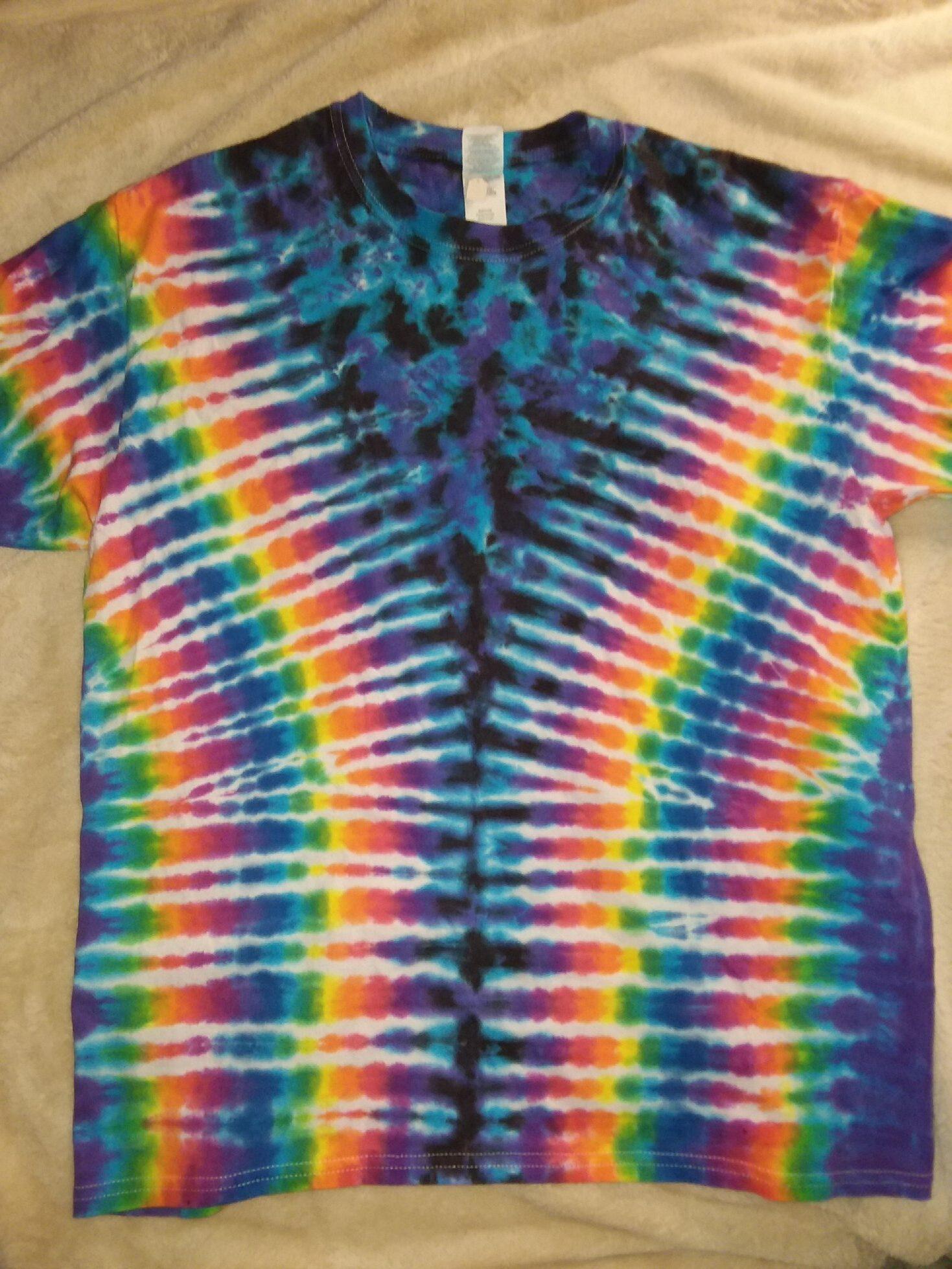 Large Purple Scrunch Rainbow Tie Dye