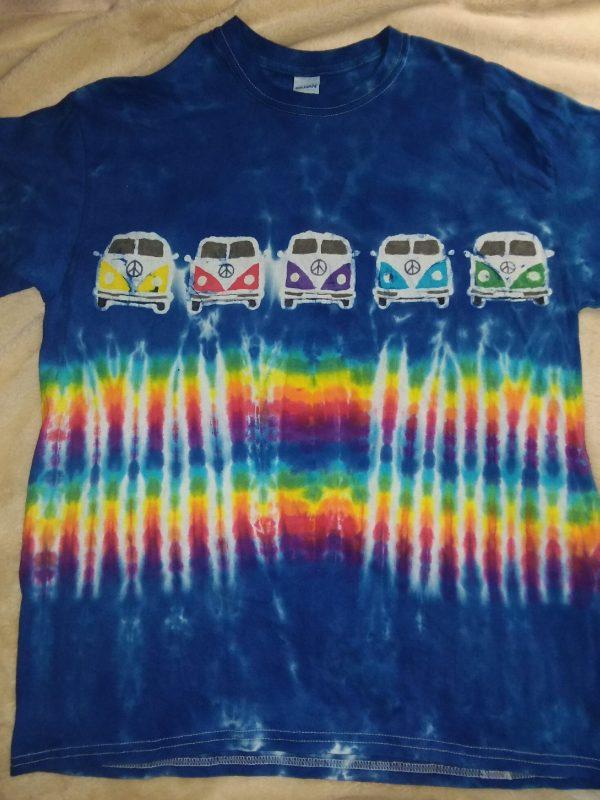 Large Blue Peace Bus Tie Dye