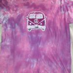 Large Amethyst Peace Bus Tie Dye