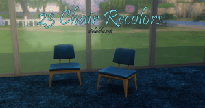 23 Basic Chair Recolors for Sims 4