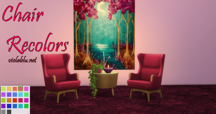 Riches Chair Recolors for Sims 4