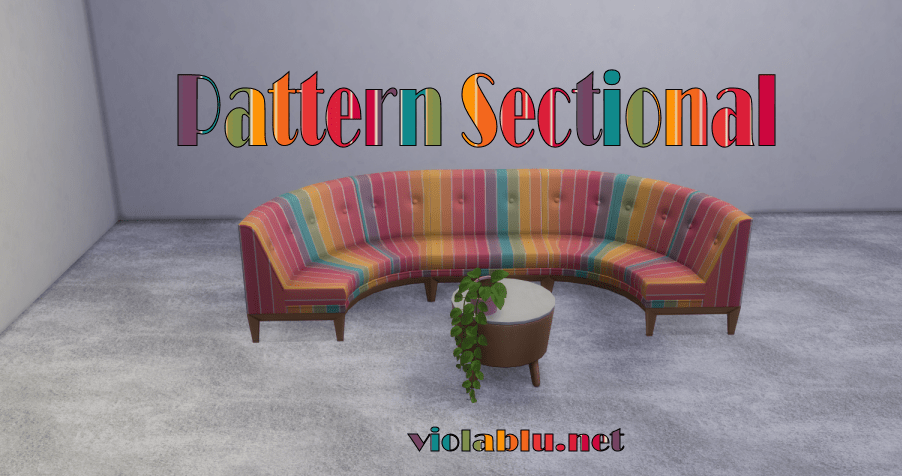 Pattern Sectionals for Sims 4