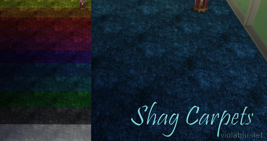 Pretty Shag Carpet for Sims 4