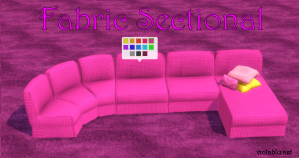 Fabric Sectional Recolors for Sims 4