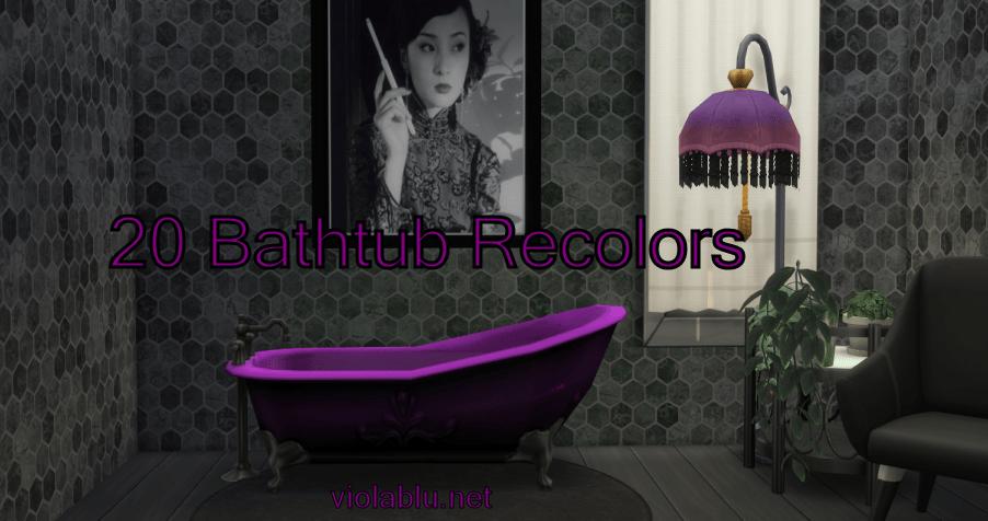 Viola's Rainbow Bathtub Recolors for Sims 4