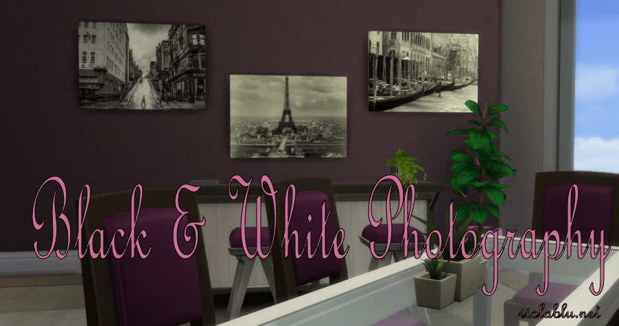 Black & White Photography for Sims 4