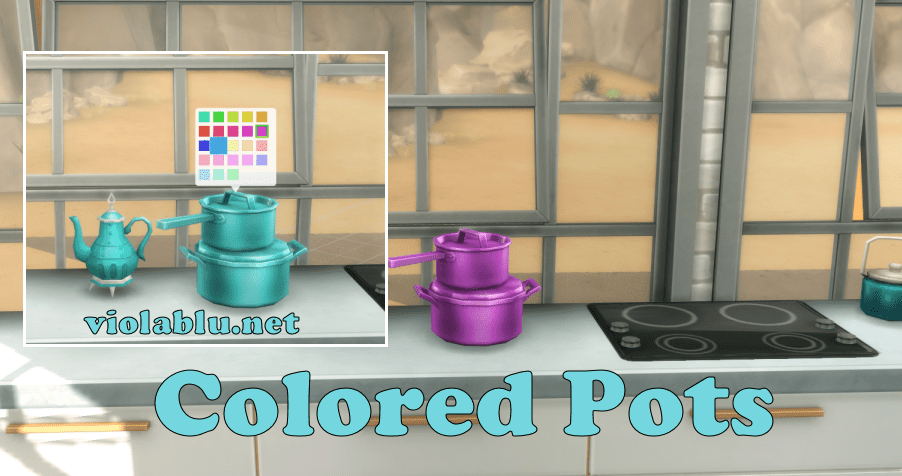 Viola's Recolored Pots for Sims 4