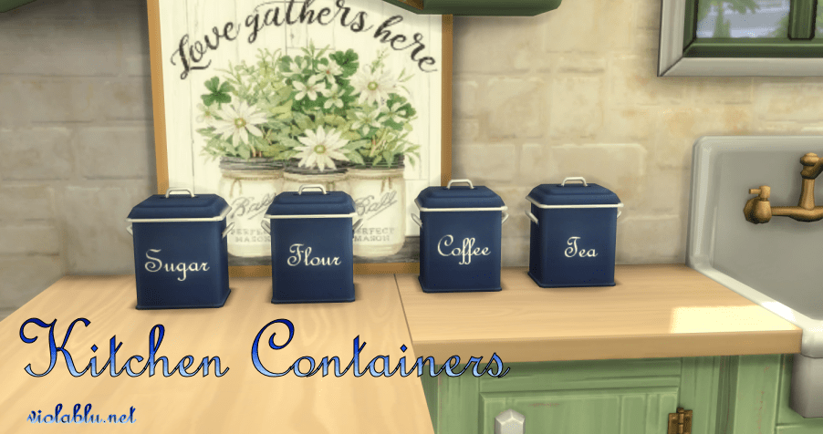 Kitchen Containers for Sims 4