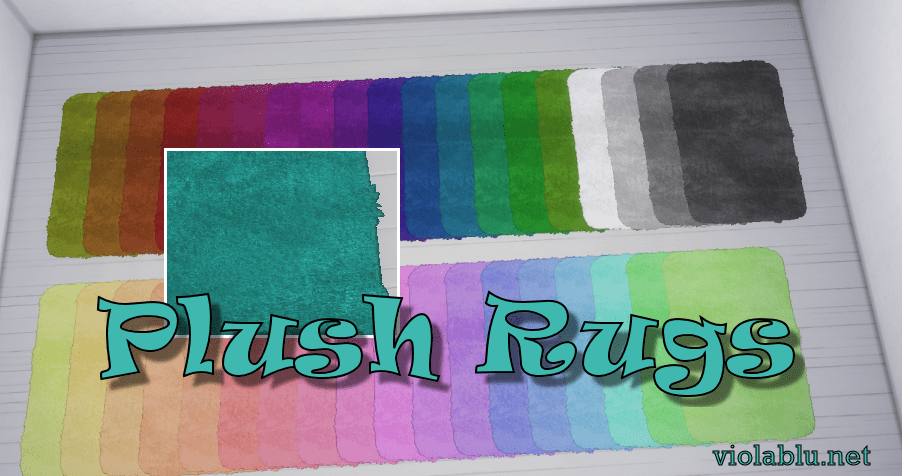 Plush Rugs for Sims 4