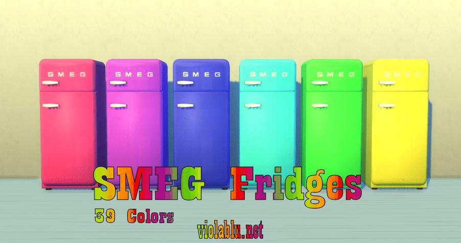 SMEG Fridges for Sims 4
