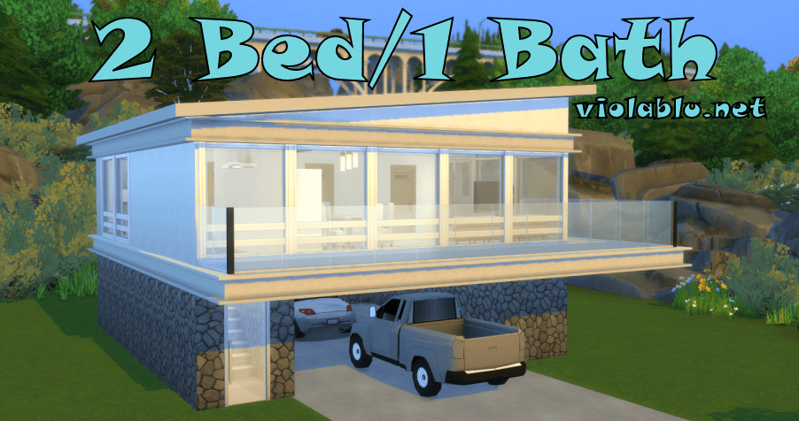 2 Bedroom 1 Bathroom for Sims 4