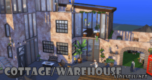 Cottage in The City for Sims 4