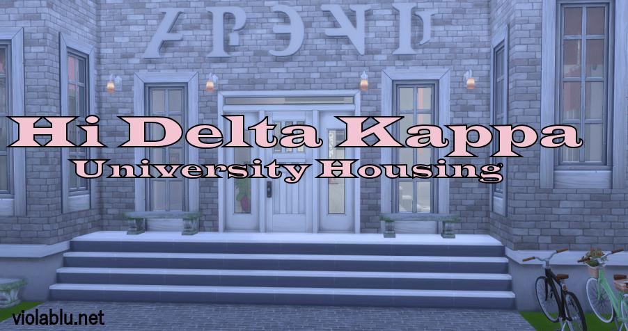 Hi Delta Kappa University Housing for Sims 4