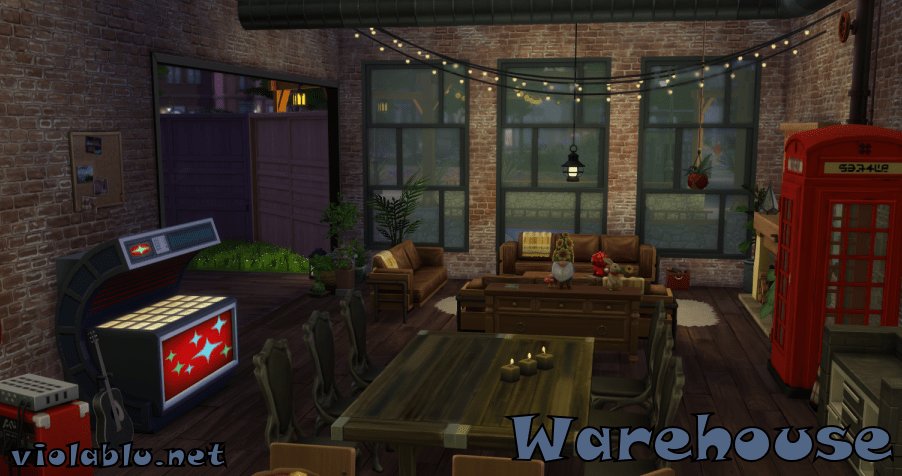 Sustainable Warehouse for Sims 4