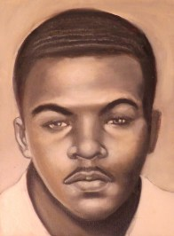 """Laurence Pierce, """"Sean Bell,"""" from the """"Beloved Fallen"""" series, oil on canvas, 12"""" x 9"""""""