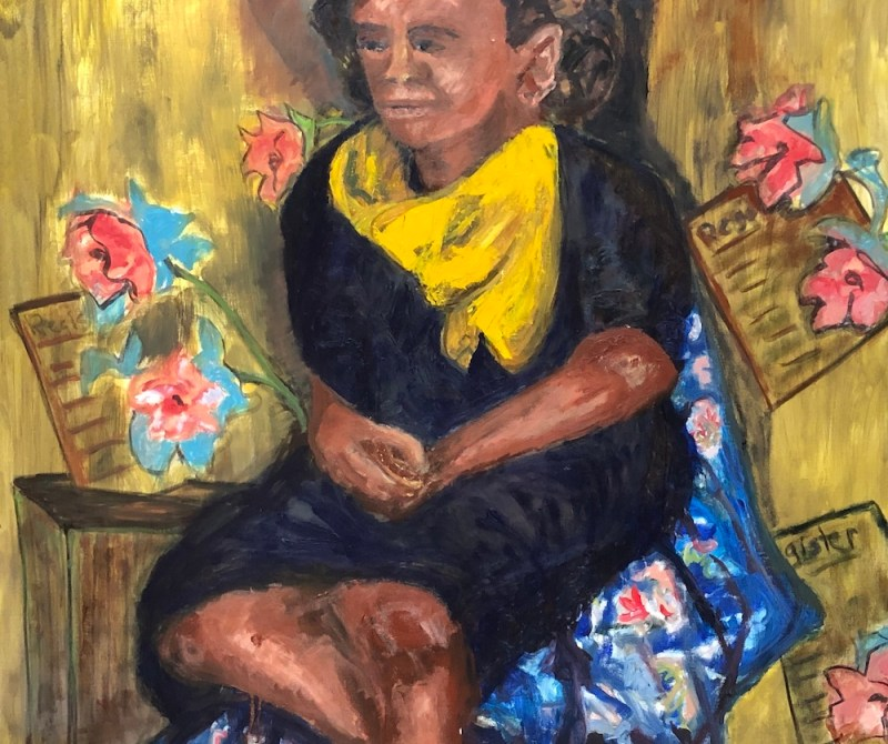 "Carol Daynard, PATIENCE, Oil on canvas, 2019, 40""x 36"""