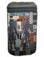 "Susan Thomson, ""Call of the Ancestors 2,"" Pieced quilt with applique, 56"" x 31"", 2016"