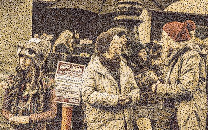 "Walter Crump, ""Women's March, San Francisco,"" Archival inkjet print, 2021"