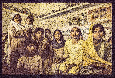 "Walter Crump, ""Village Family, Pakistan,"" Archival inkjet print, 2021"