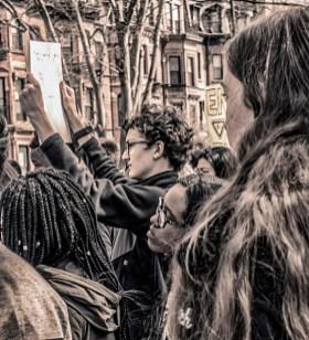 "Walter Crump, ""CWS Anti Gun Protest,"" Archival inkjet print, 2018"