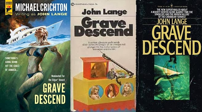 MC7 - Grave Descend by Michael Crichton, with bonus covers