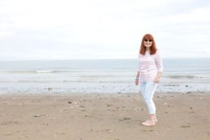 Sue France on Rachel's beach