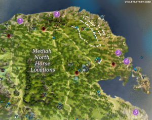 BDO Media North Horse Locations Map